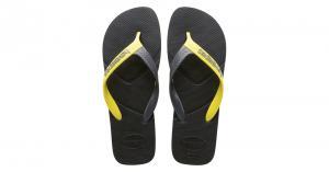 Sandálias havaianas casual - preto
