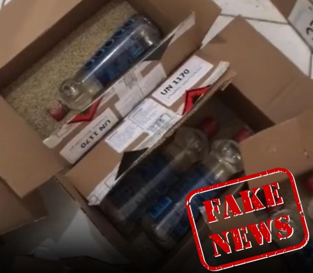 """Vídeo de caixas """"com areia"""" em remessas de álcool gel não ..."""
