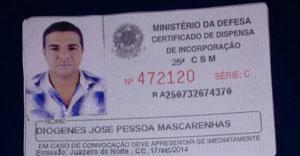 Documento de Diógenes José Pessoa Mascarenhas