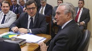 Vice-presidente Michel Temer recebe os deputados Danilo Forte, Sergio Souza e prefeitos