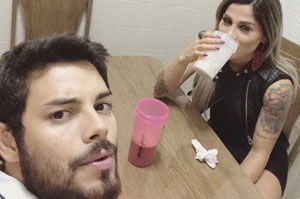 Vanessa Mesquita e Pedro Andrade